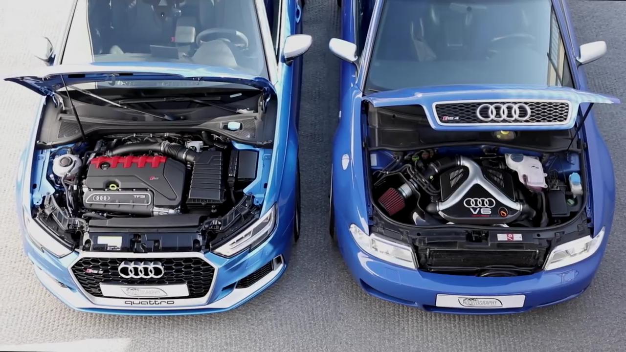 2018 Audi RS3 Meets RS4 B5 Avant: 5-Cylinder vs. The BiTurbo V6 - autoevolution