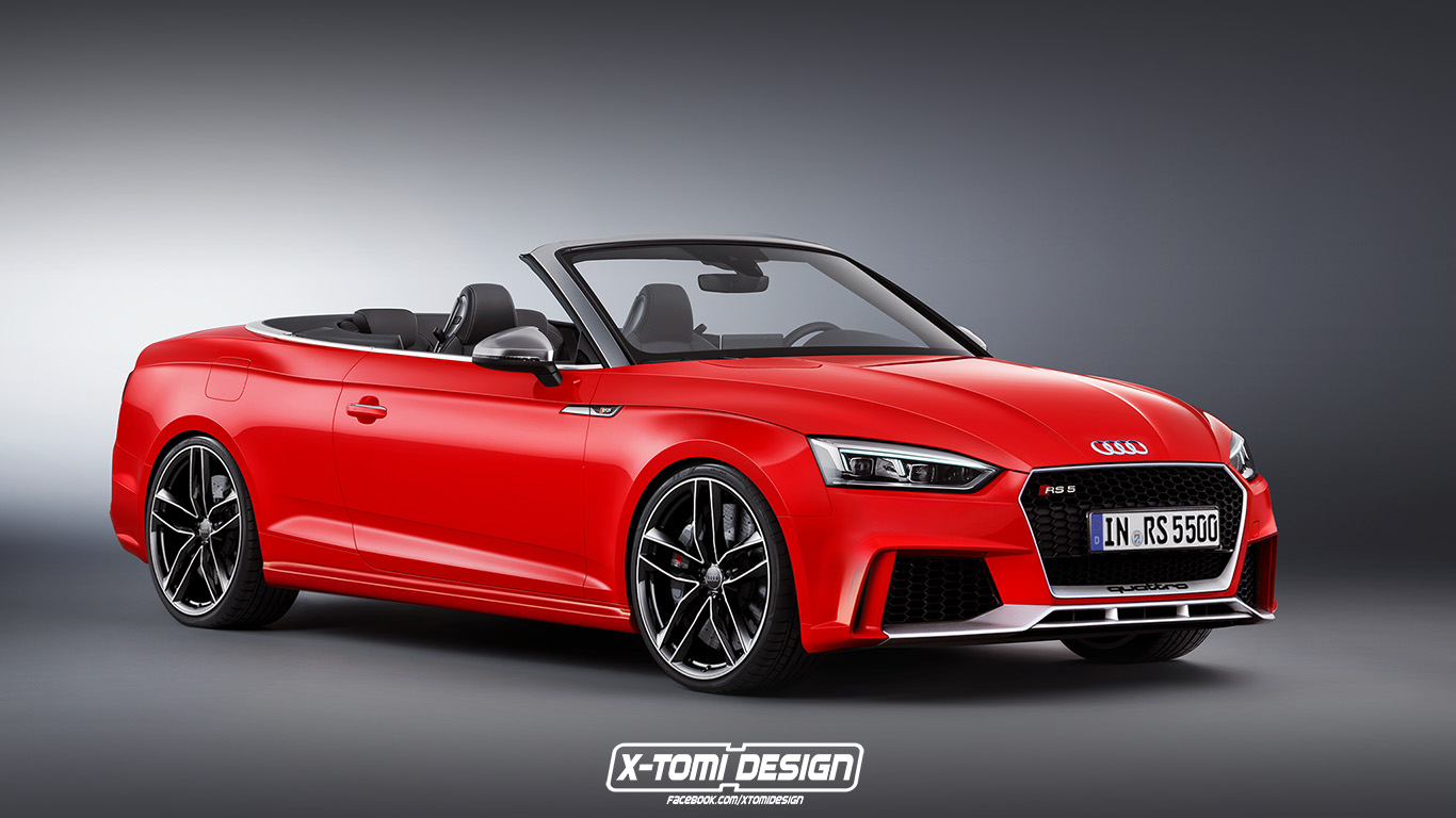 ... -drive. That's one way to introduce the this RS5 Cabriolet rendering