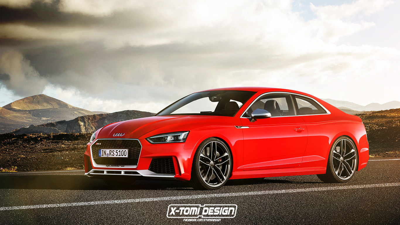2018 audi rs5 coupe accurately rendered using new s5 and tt rs elements autoevolution. Black Bedroom Furniture Sets. Home Design Ideas