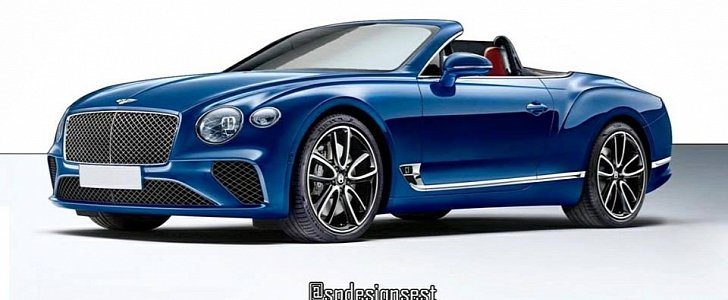 2018 bentley continental gt convertible rendering looks. Black Bedroom Furniture Sets. Home Design Ideas