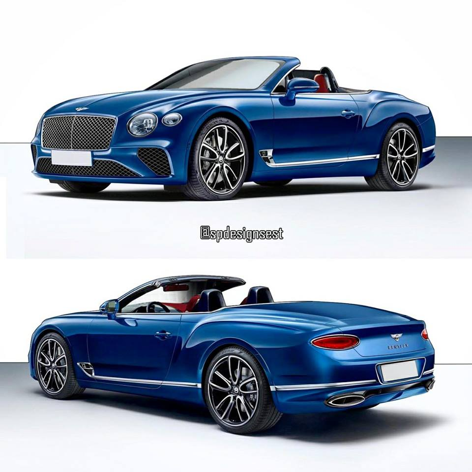 2018 bentley continental gt convertible rendering looks spot on autoevolution. Black Bedroom Furniture Sets. Home Design Ideas