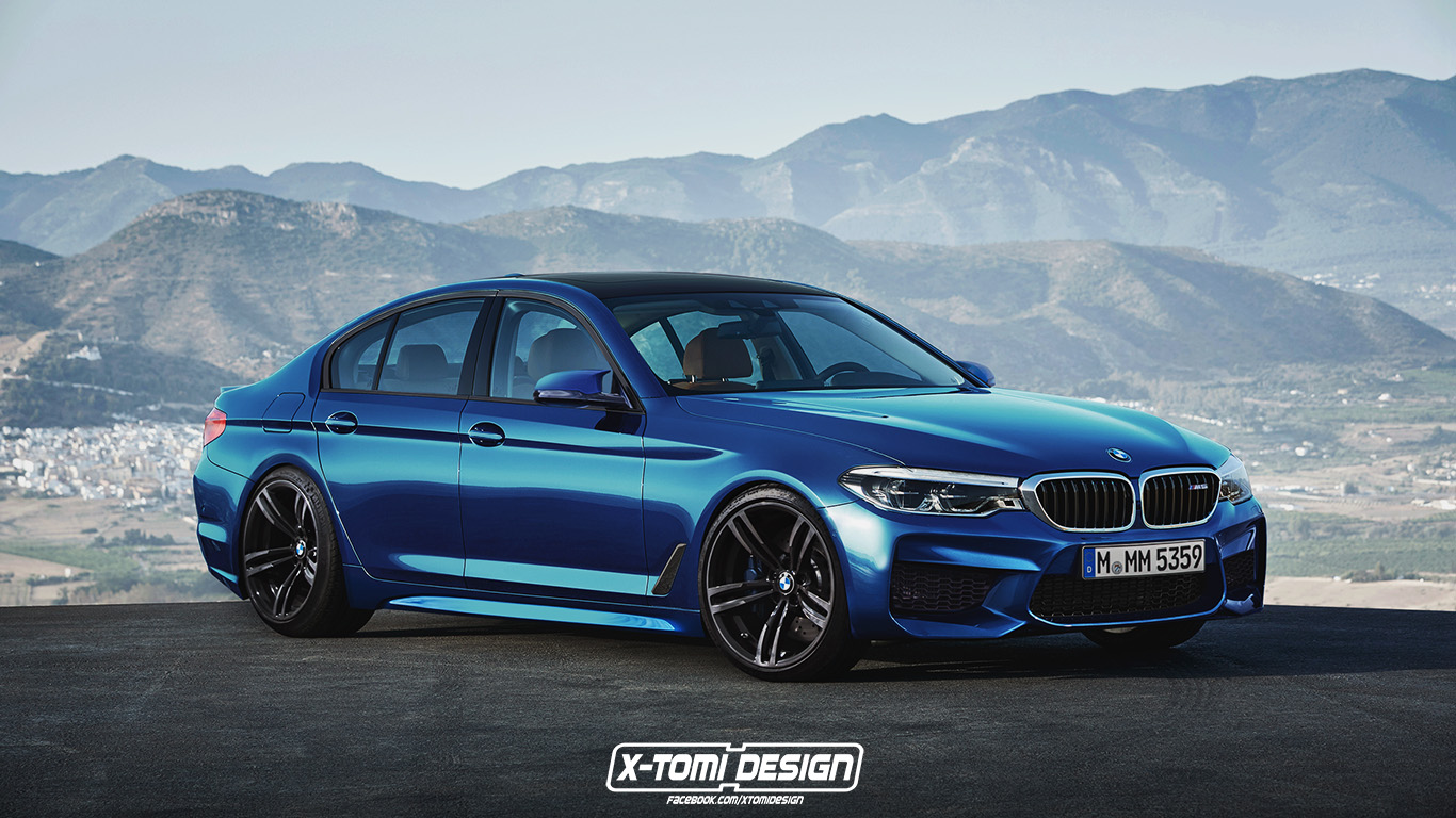 2018 bmw m5 sedan is already here as a rendering