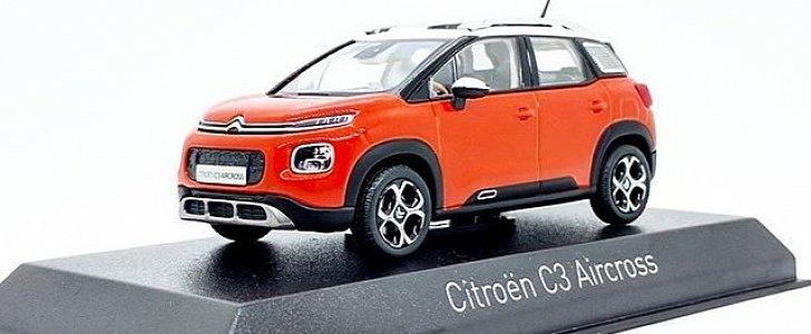2018 citroen c3 aircross leaked as a scale model autoevolution. Black Bedroom Furniture Sets. Home Design Ideas