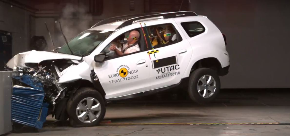 2018 dacia duster gets 3 star euro ncap rating whiplash protection