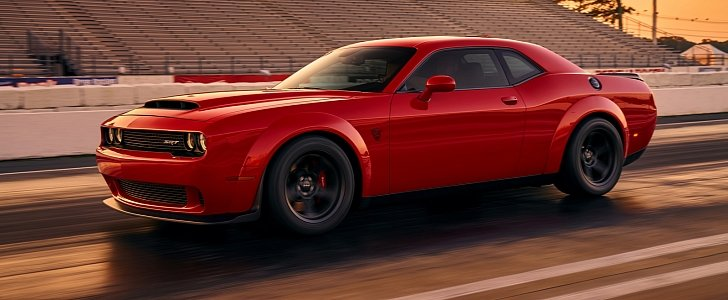 2018 Dodge Challenger Srt Demon Looks Devilish In First Official Photo Autoevolution