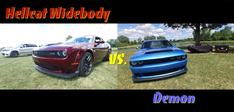 2018 Dodge Challenger Widebody Vs Dodge Challenger Demon Comparison Has It All Autoevolution