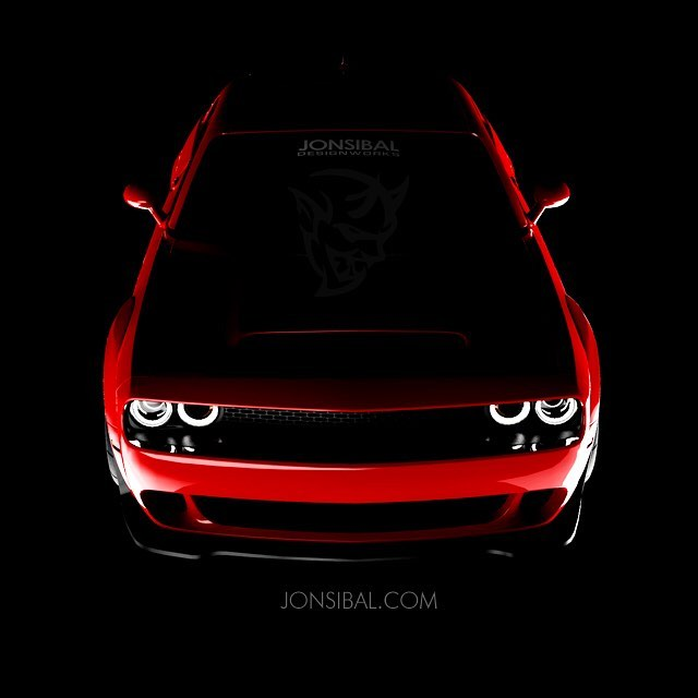 2018 Dodge Demon Looks Maniacal in TorRed, a Rendering For Now ...