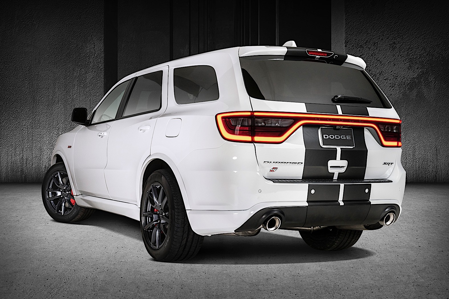 Dodge Durango Gets Moparized, Receives Multi-Colored Racing Stripes
