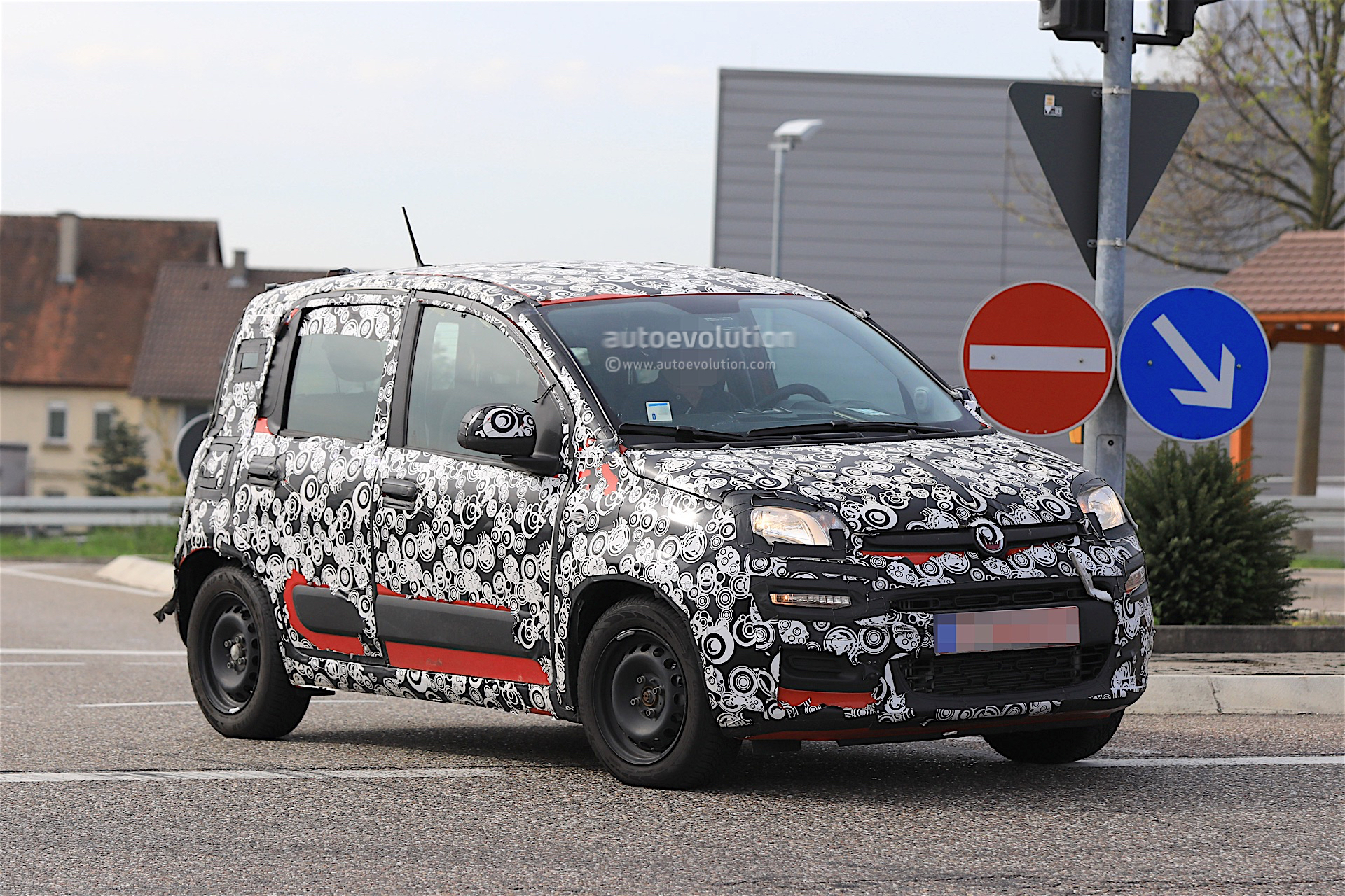 2018 fiat panda facelift spied testing in germany no. Black Bedroom Furniture Sets. Home Design Ideas
