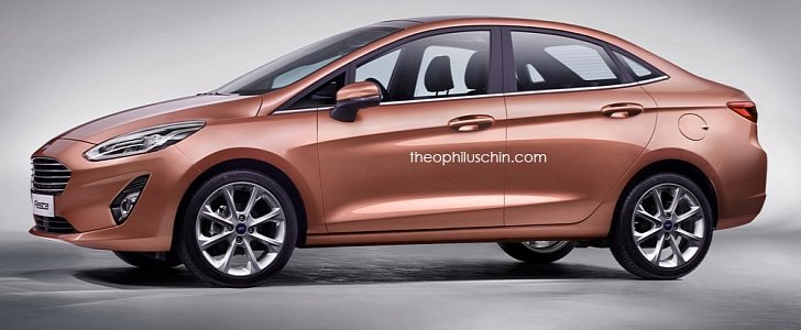 2018 ford fiesta. perfect fiesta 2018 ford fiesta sedan rendering looks good but will it happen   autoevolution and ford fiesta t