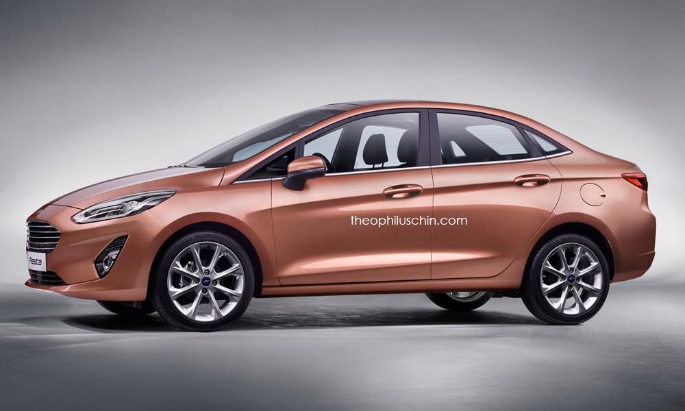 Ford Fiesta Sedan >> 2018 Ford Fiesta Sedan Rendering Looks Good But Will It