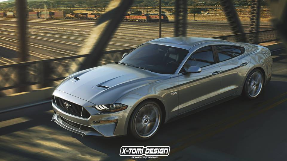 2018 Ford Mustang Gt Sedan Rendered As The Four Door From Hell