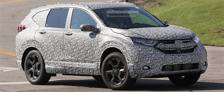 2018 honda cr v spied for the first time autoevolution. Black Bedroom Furniture Sets. Home Design Ideas