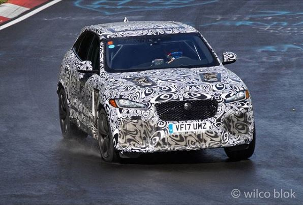 2018 jaguar f-pace svr spied on the ring, threatens alfa romeo