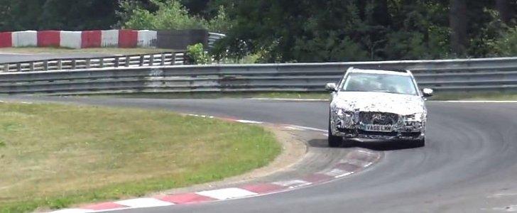 2018 Jaguar XEL Jumping On Nurburgring Vibrators Shows It