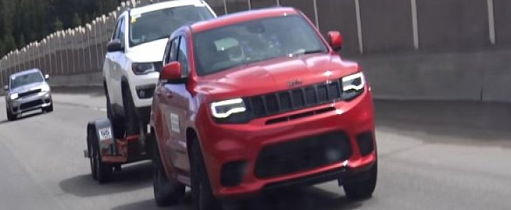 2018 Jeep Grand Cherokee Trackhawk Spotted Towing a Compass Like It's Nothing