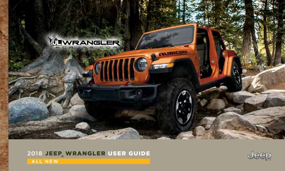 Leaked 2018 Jeep Wrangler JL Owner's Manual Tells All