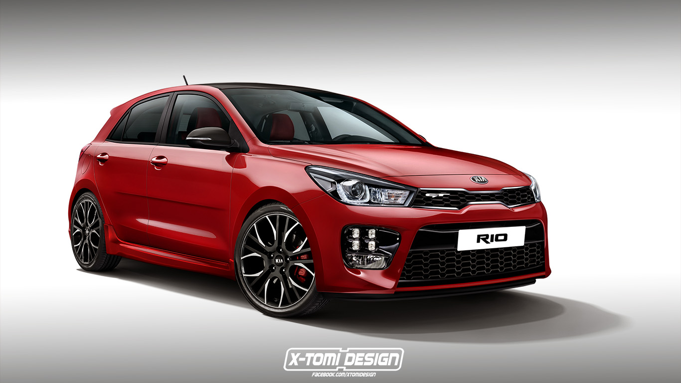 2018 kia rio gt hot hatch could happen here 39 s the rendering autoevolution. Black Bedroom Furniture Sets. Home Design Ideas