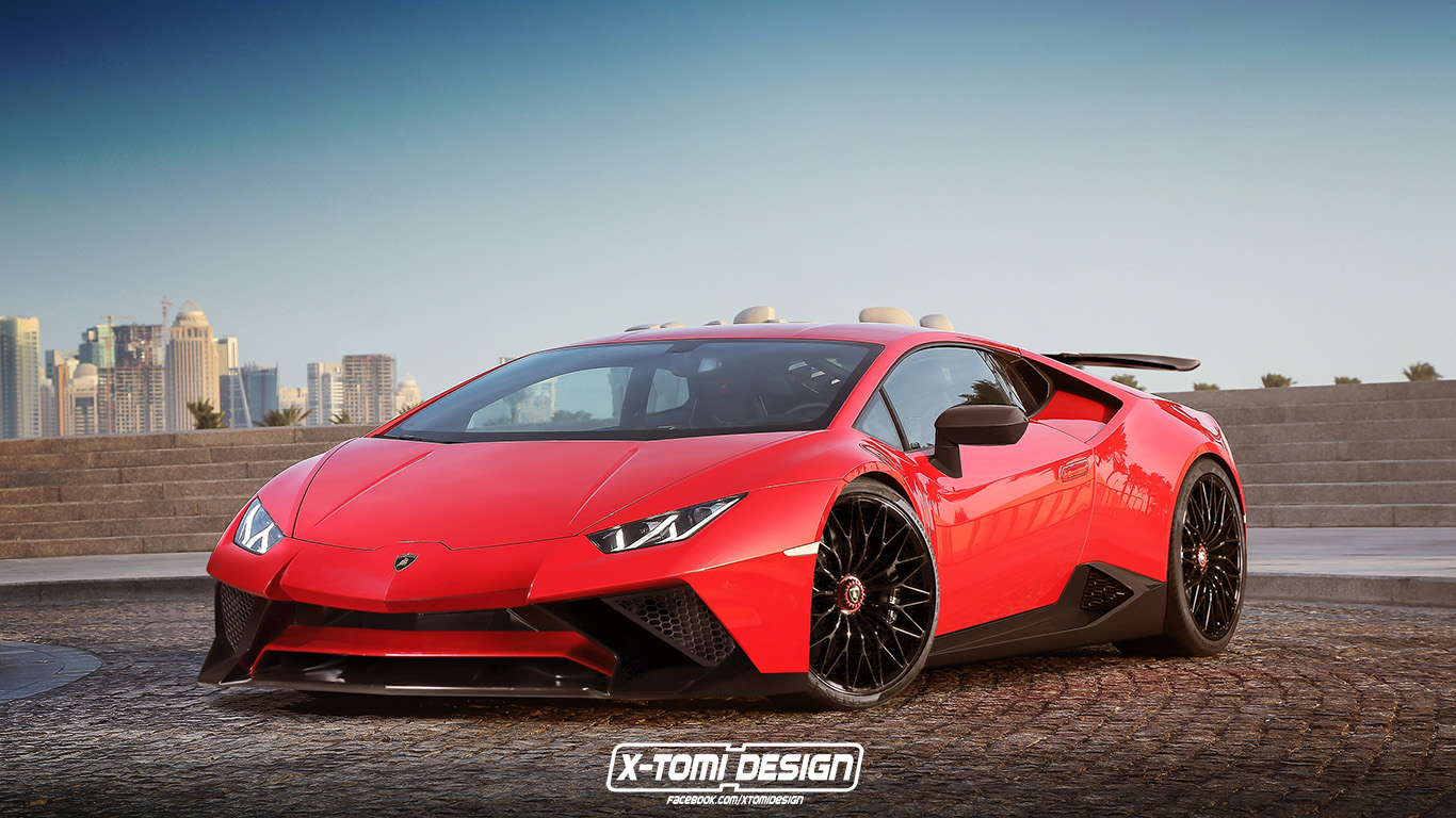 lamborghini huracan superleggera rendered with the sv aero parts we 39 ll never get autoevolution. Black Bedroom Furniture Sets. Home Design Ideas
