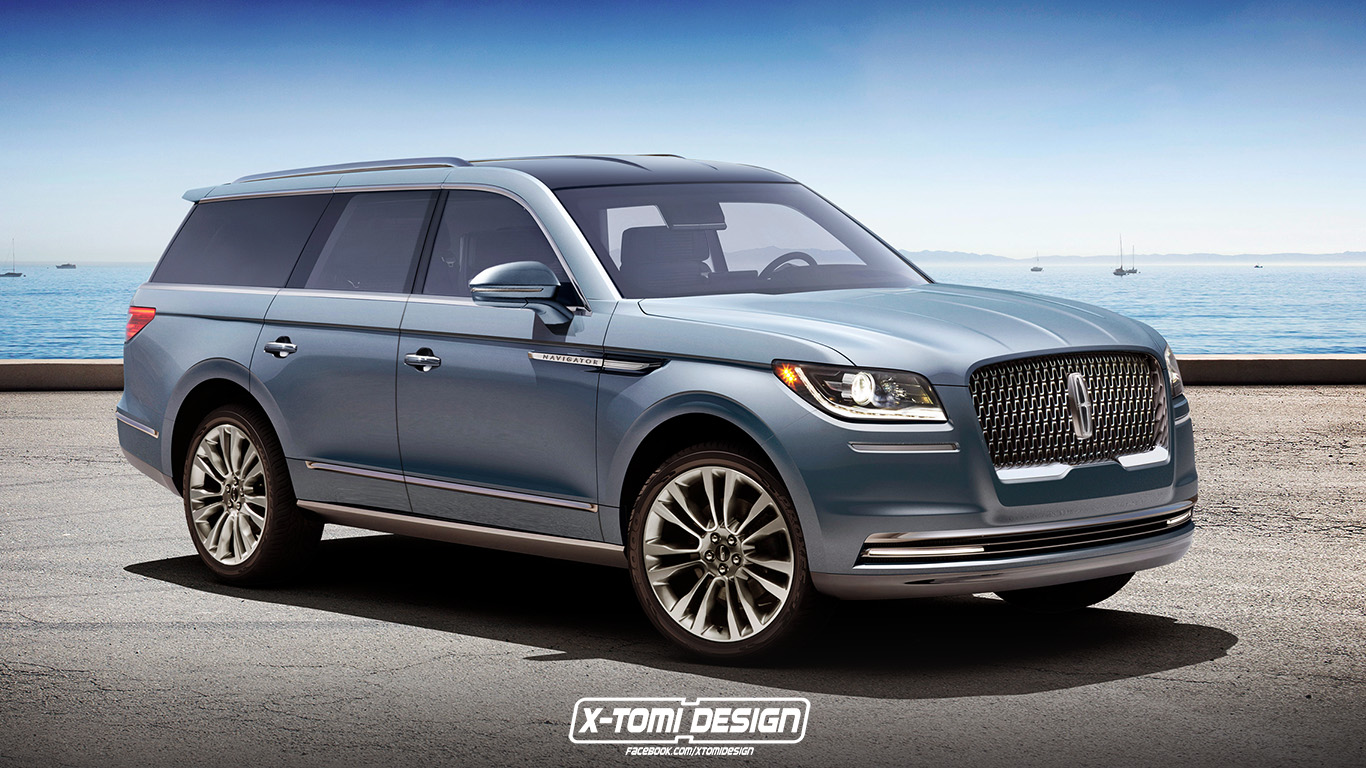 2018 lincoln navigator flagship suv might look like this autoevolution. Black Bedroom Furniture Sets. Home Design Ideas