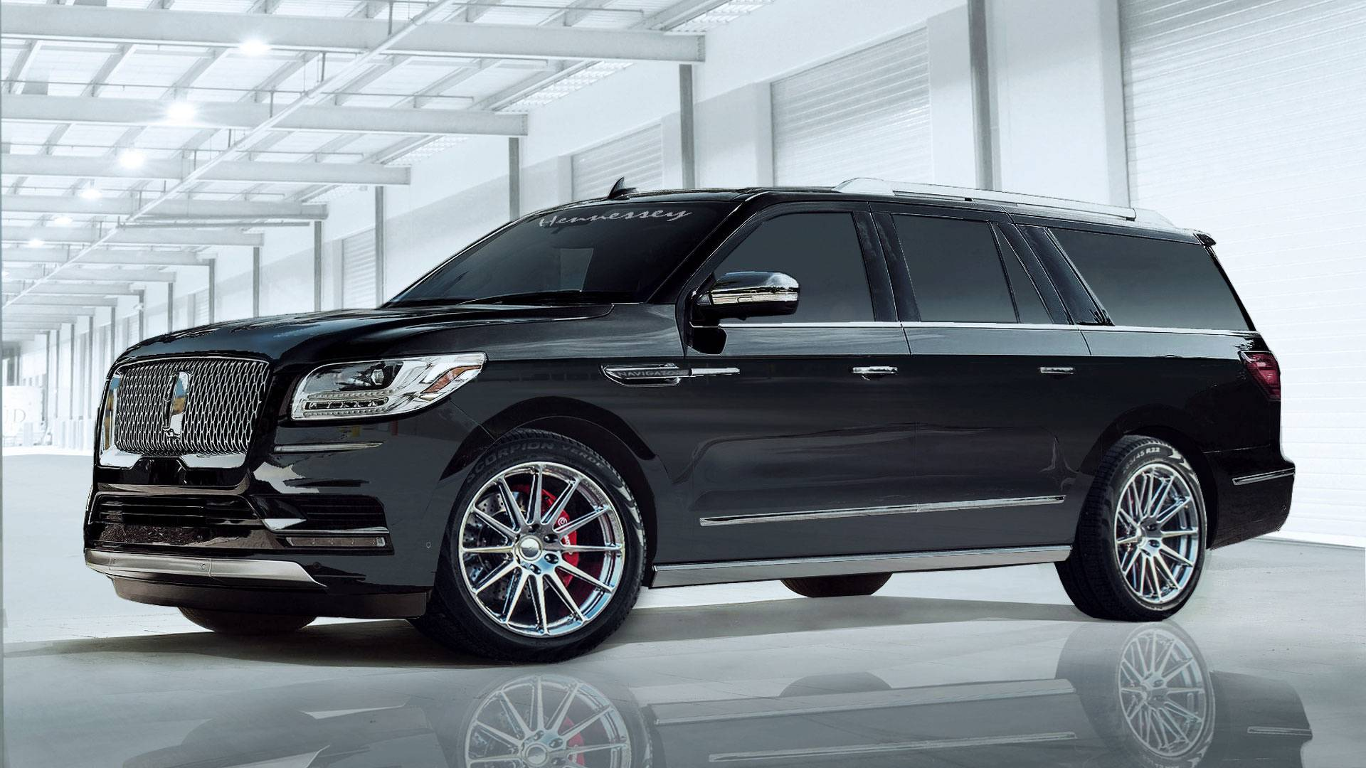 2018 Lincoln Navigator L Tuned By Hennessey to 600 Horsepower - autoevolution