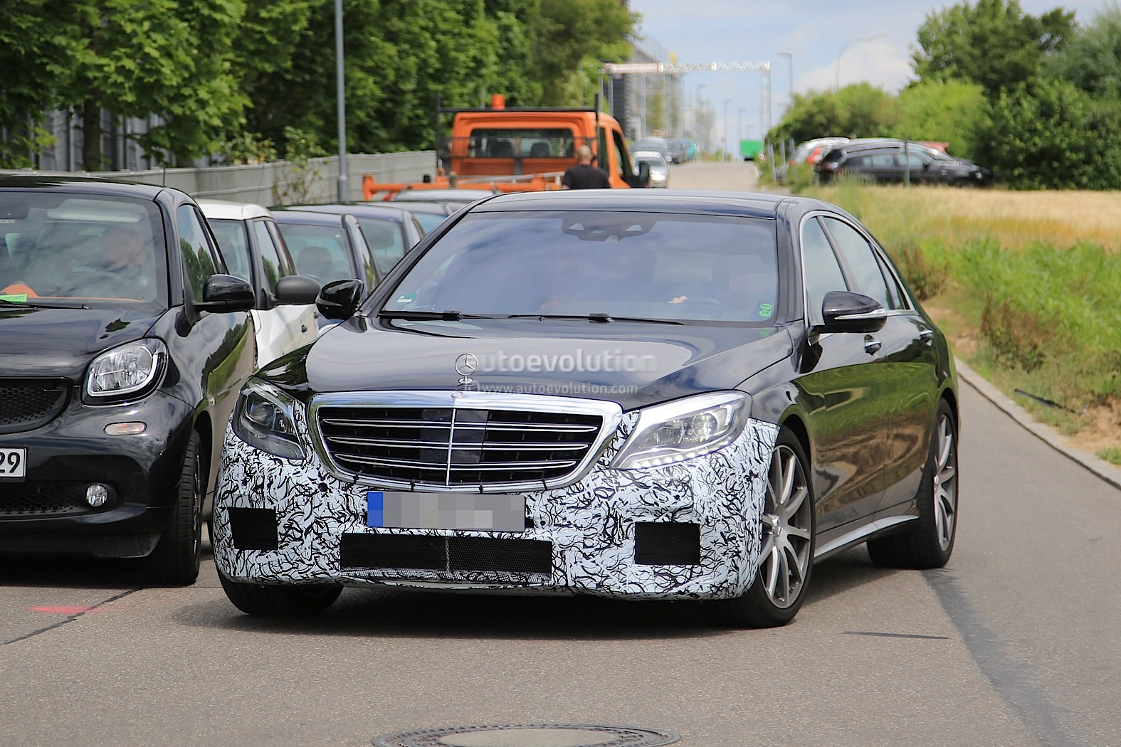 2018 mercedes amg s63 sedan starts testing with new engine for Mercedes benz s63 amg 2018