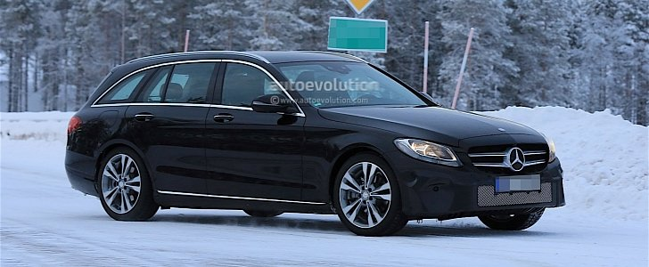 2018 Mercedes Benz C-Class Facelift Spied, Reveals More of Its Interior