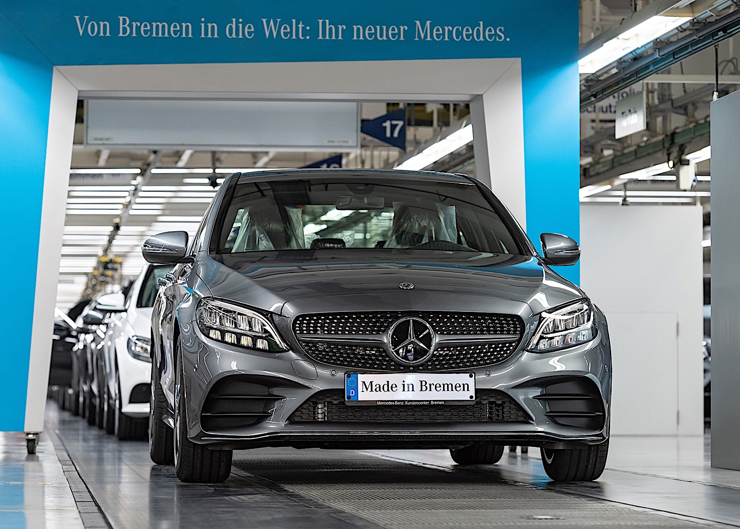 2018 mercedes benz c class facelift starts production in for Mercedes benz in