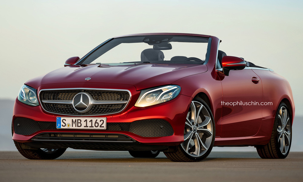 2018 Mercedes Benz E Cl Cabriolet Rendered Might Debut In Geneva