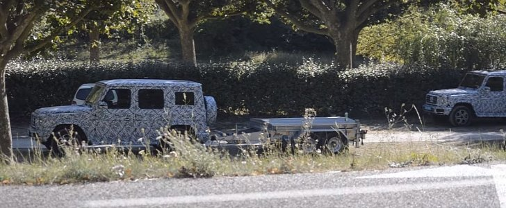 2018 mercedes benz g class prototypes spied testing towing for Mercedes benz towing capacity