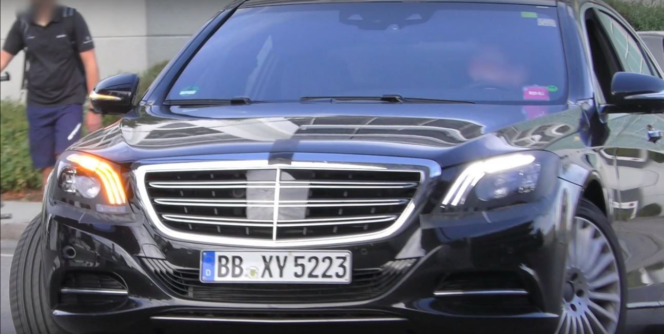 2018 Mercedes Benz S Cl Facelift Shows Up In Traffic Reveals Front Per