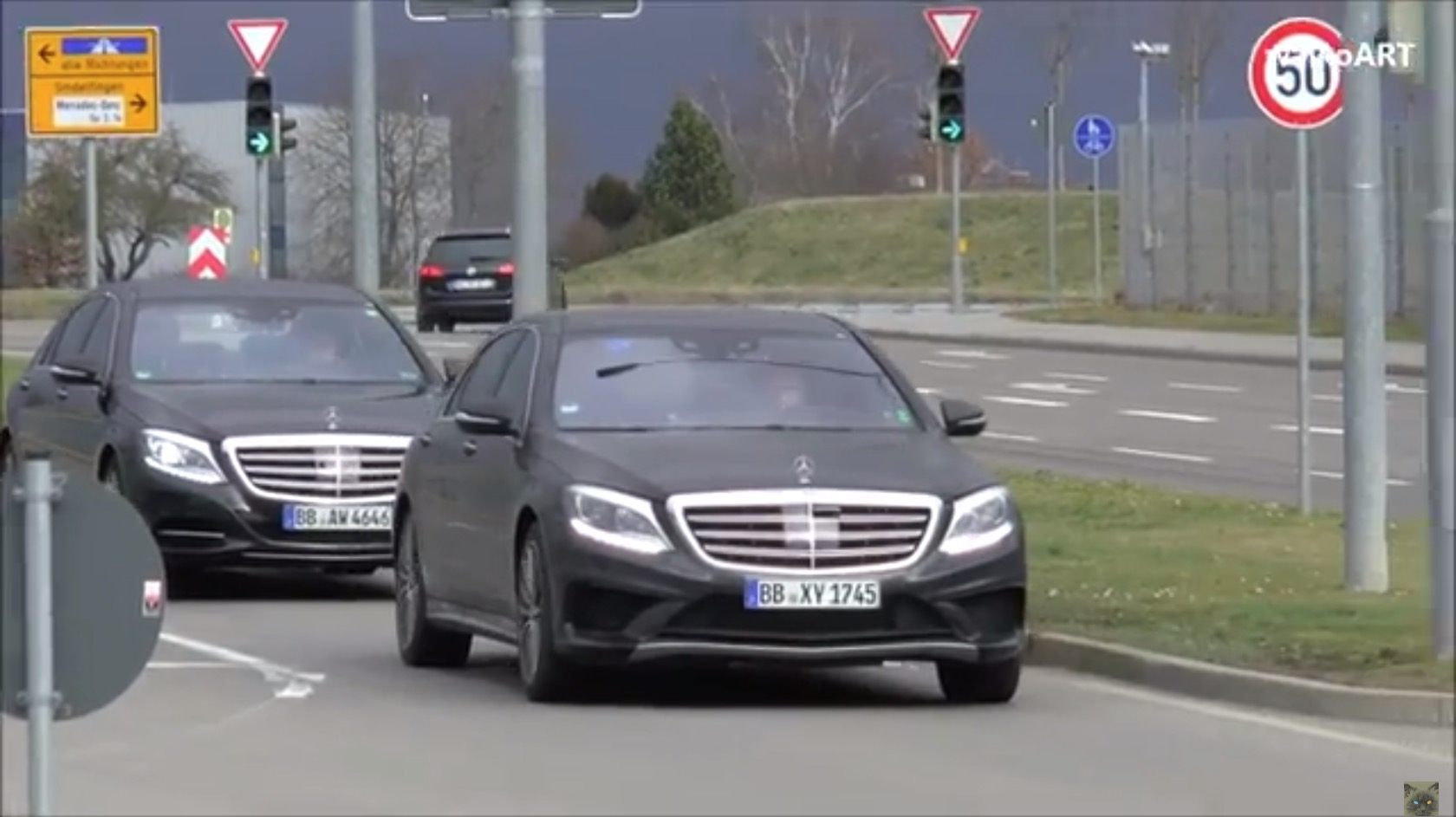 2018 mercedes benz s class facelift thinks camouflage is for Mercedes benz new s class 2018