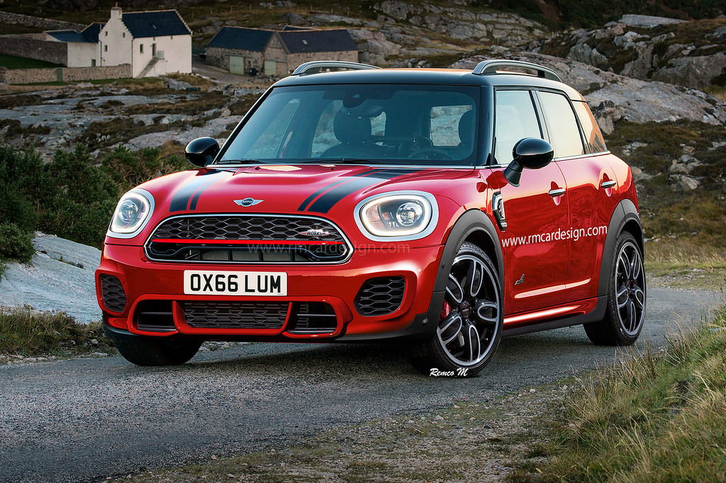 2018 Mini Countryman Jcw Rendered 231 Hp Hot Crossover Autoevolution