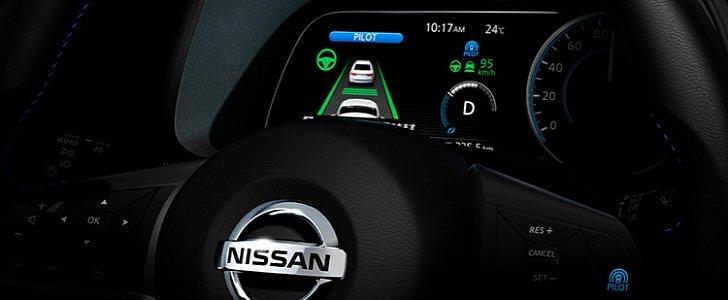 2018 Nissan Leaf Digital Instrument Cluster Teased ...