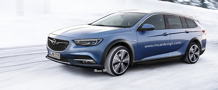 2018 opel insignia country tourer rendered autoevolution. Black Bedroom Furniture Sets. Home Design Ideas