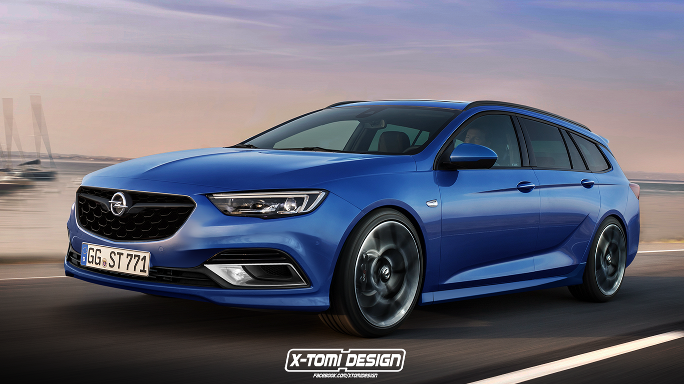 2018 opel insignia opc rendered in sports tourer form autoevolution. Black Bedroom Furniture Sets. Home Design Ideas