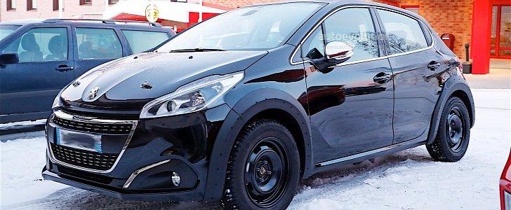 2018 peugeot 208 mule spotted in sweden autoevolution. Black Bedroom Furniture Sets. Home Design Ideas