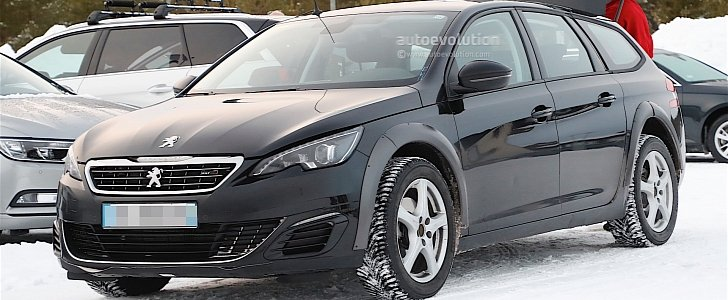 2018 peugeot 508 mule spied with modified 308 sw body. Black Bedroom Furniture Sets. Home Design Ideas