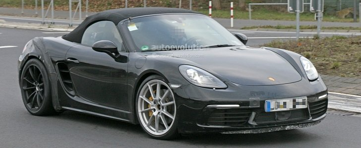 2018 porsche boxster 718 gts. contemporary 2018 2018 porsche 718 boxster gts makes spyshot debut to be a turbofour  phenomenon  autoevolution inside porsche boxster gts 1