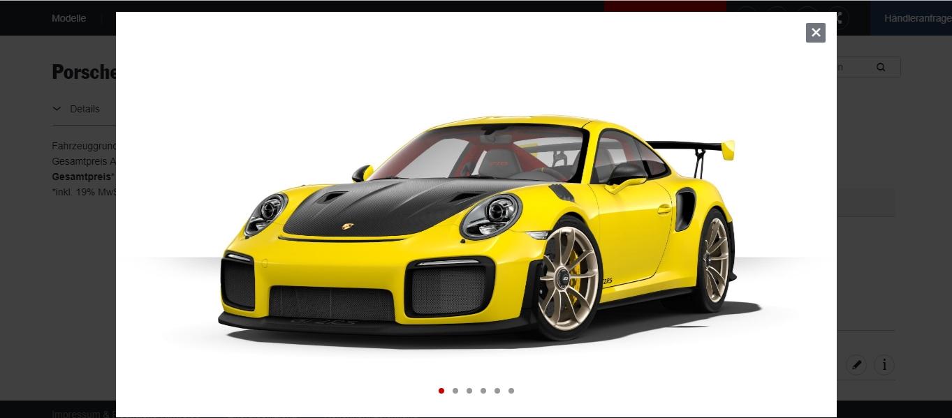 2018 porsche 911 gt2 rs no longer available in german configurator autoevolution. Black Bedroom Furniture Sets. Home Design Ideas