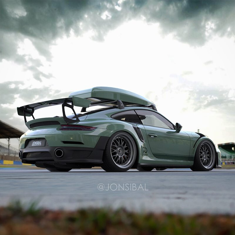 2018 Porsche 911 GT2 RS Roof Box Is Not Just A Rendering