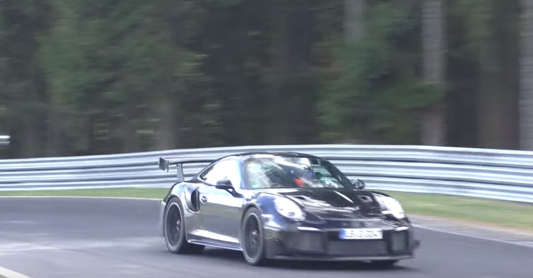 2018 porsche 911 gt2 rs shows up on nurburgring should debut at goodwood fos autoevolution. Black Bedroom Furniture Sets. Home Design Ideas