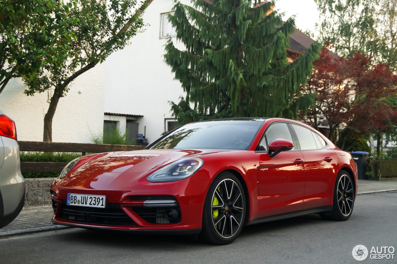 5 Photos 2018 Porsche Panamera Turbo S E Hybrid Spotted