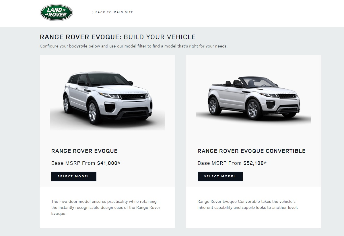 2018 Range Rover Evoque Drops Three Door Coupe From U S Lineup