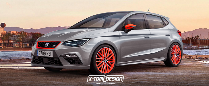 2018 seat ibiza cupra rendering is called 250 has orange pack autoevolution. Black Bedroom Furniture Sets. Home Design Ideas