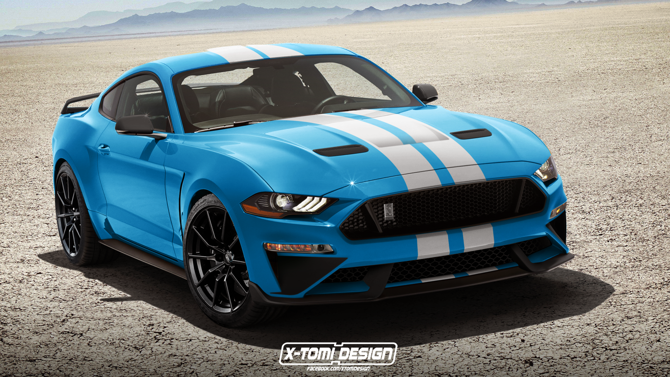 2018 shelby gt350 mustang rendered with facelift that won. Black Bedroom Furniture Sets. Home Design Ideas
