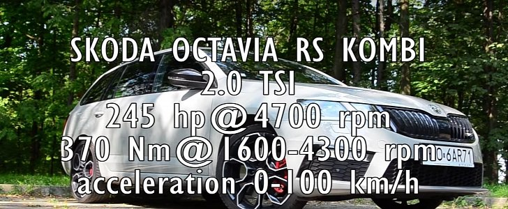 2018 Skoda Octavia Rs 245 Acceleration Test 0 To 100 Kmh In 64