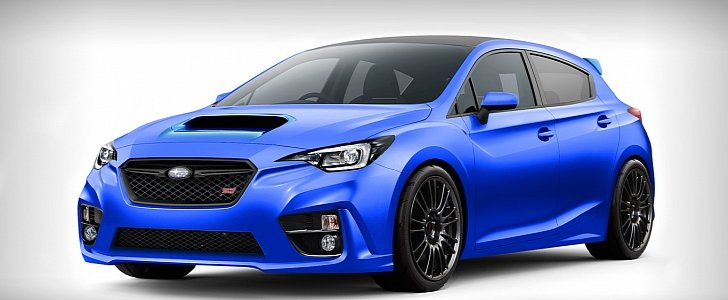 2018 Subaru Impreza Wrx Sti Rendered As A Hatchback Autoevolution