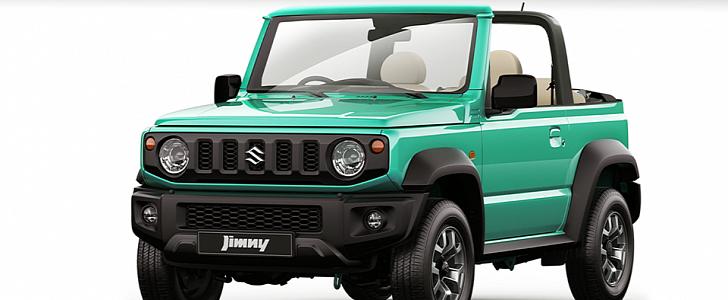 2018 Suzuki Jimny Convertible Masterfully Rendered ...