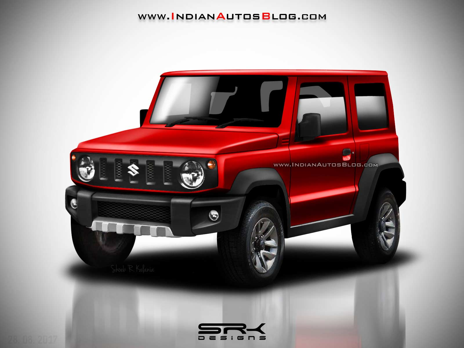 2018 suzuki jimny masterfully rendered looks eager to. Black Bedroom Furniture Sets. Home Design Ideas